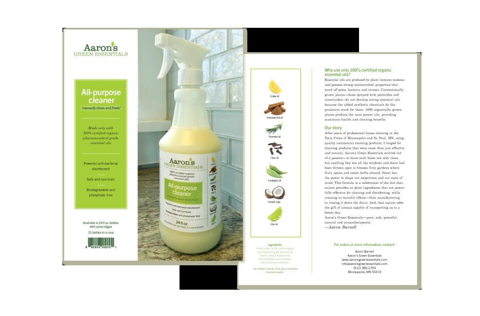 Sellsheet for Aaron's Green Essentials