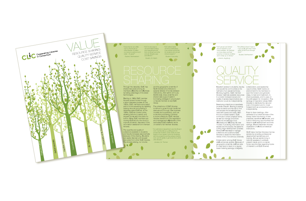Cooperating Libraries in Consortium brochure design