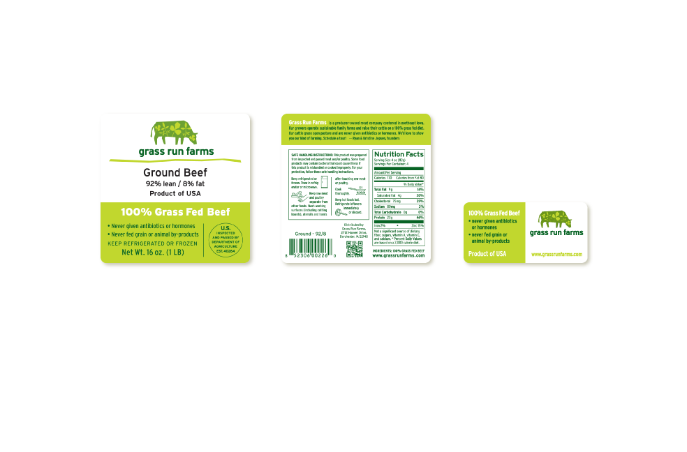 Label designs for Grass Run Farms