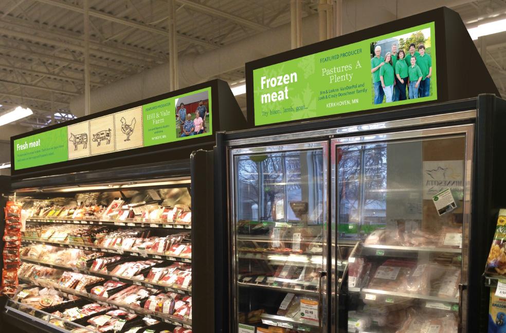 Meat sign design for Mississippi Market
