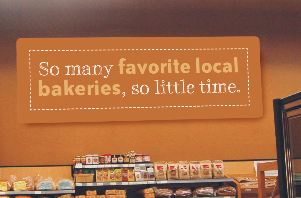 Bakery sign design for Mississippi Market