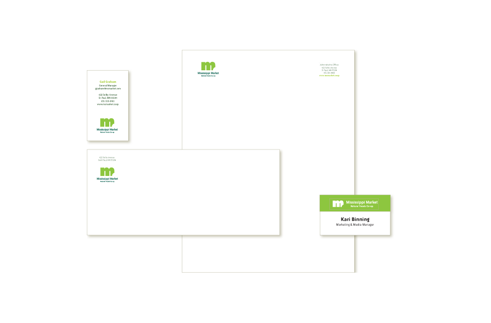 Stationery design for Mississippi Market