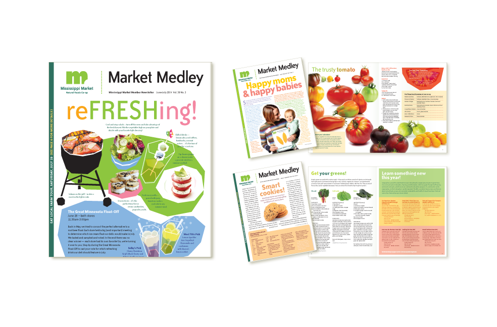 Newsletter designs for Mississippi Market