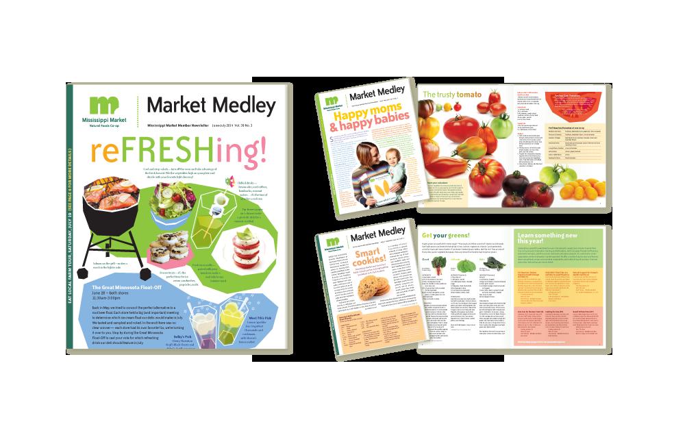Newsletter designs for Mississippi Market
