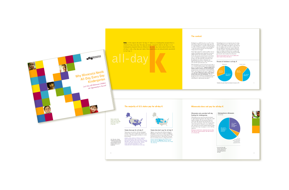 Design for All Day Kindegarten brochure for Minneapolis Foundation