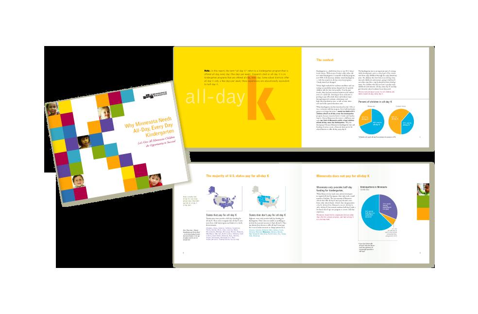 Design for All Day Kindegarten brochure for Minneapolis Foundation