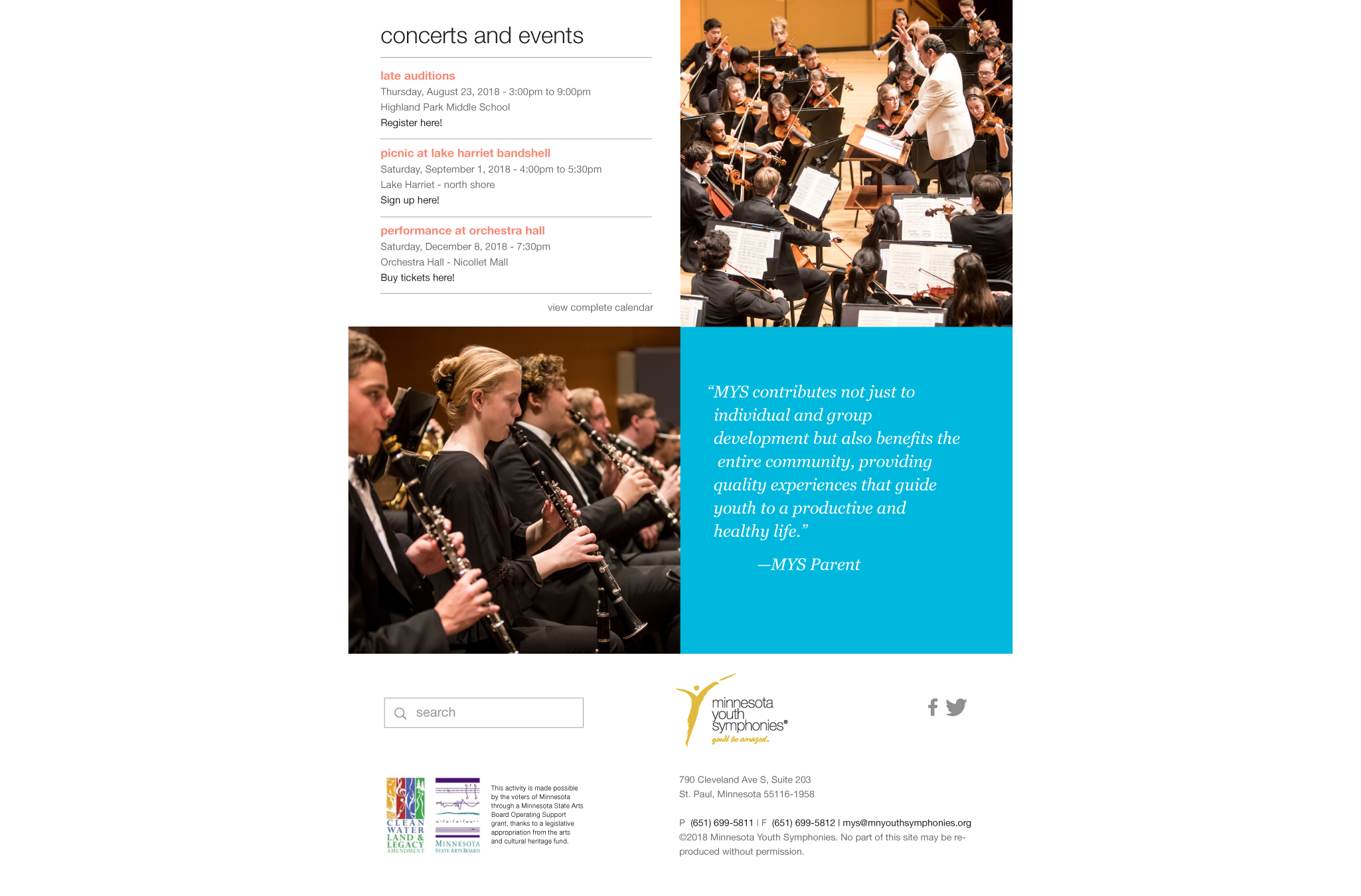 Minnesota Youth Symphonies website
