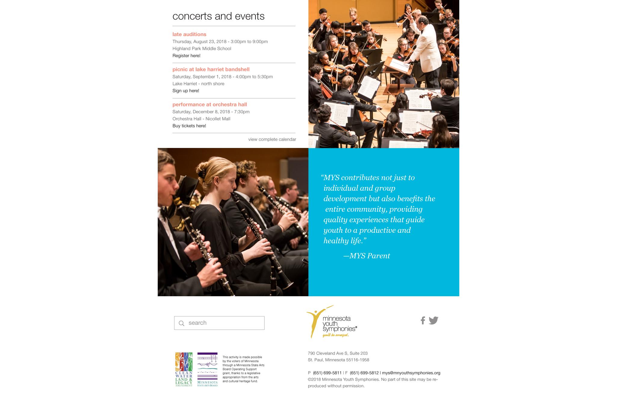 Minnesota Youth Symphonies website