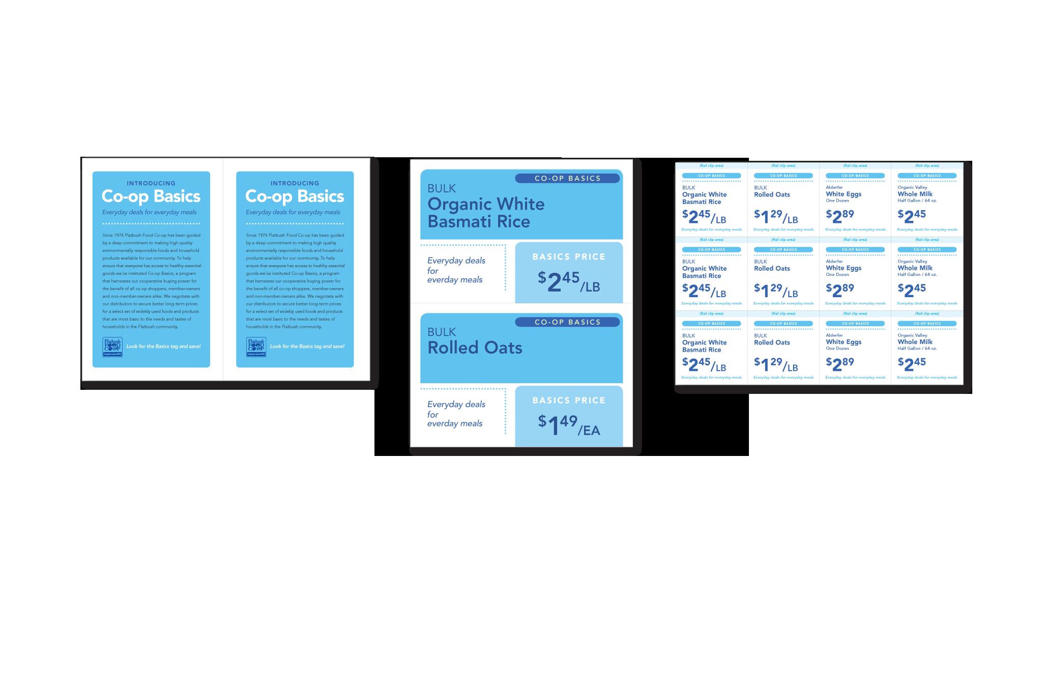Flatbush Food Co-op Co-op Basics program signage