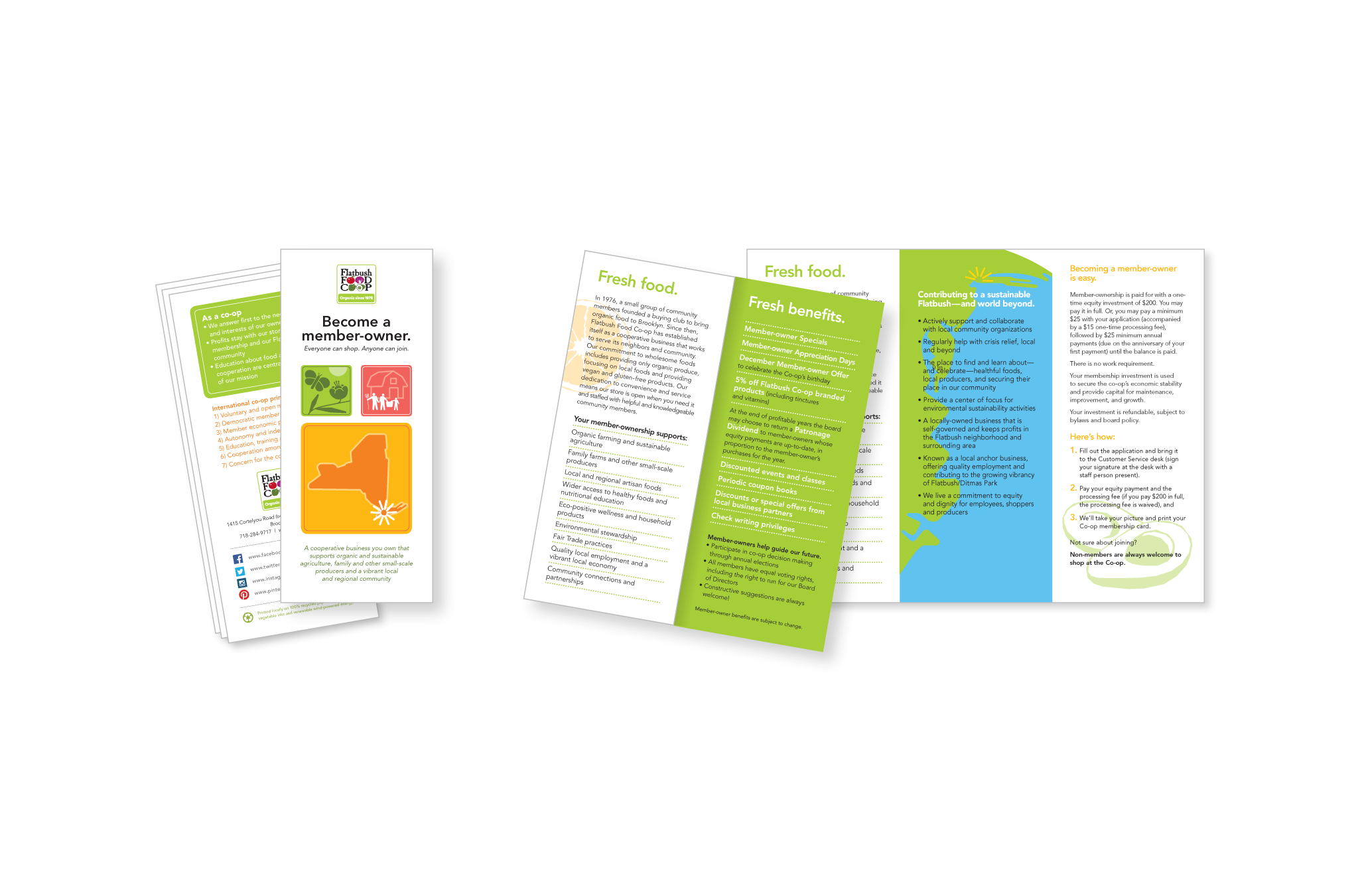 Flatbush Food Co-op member benefits brochure