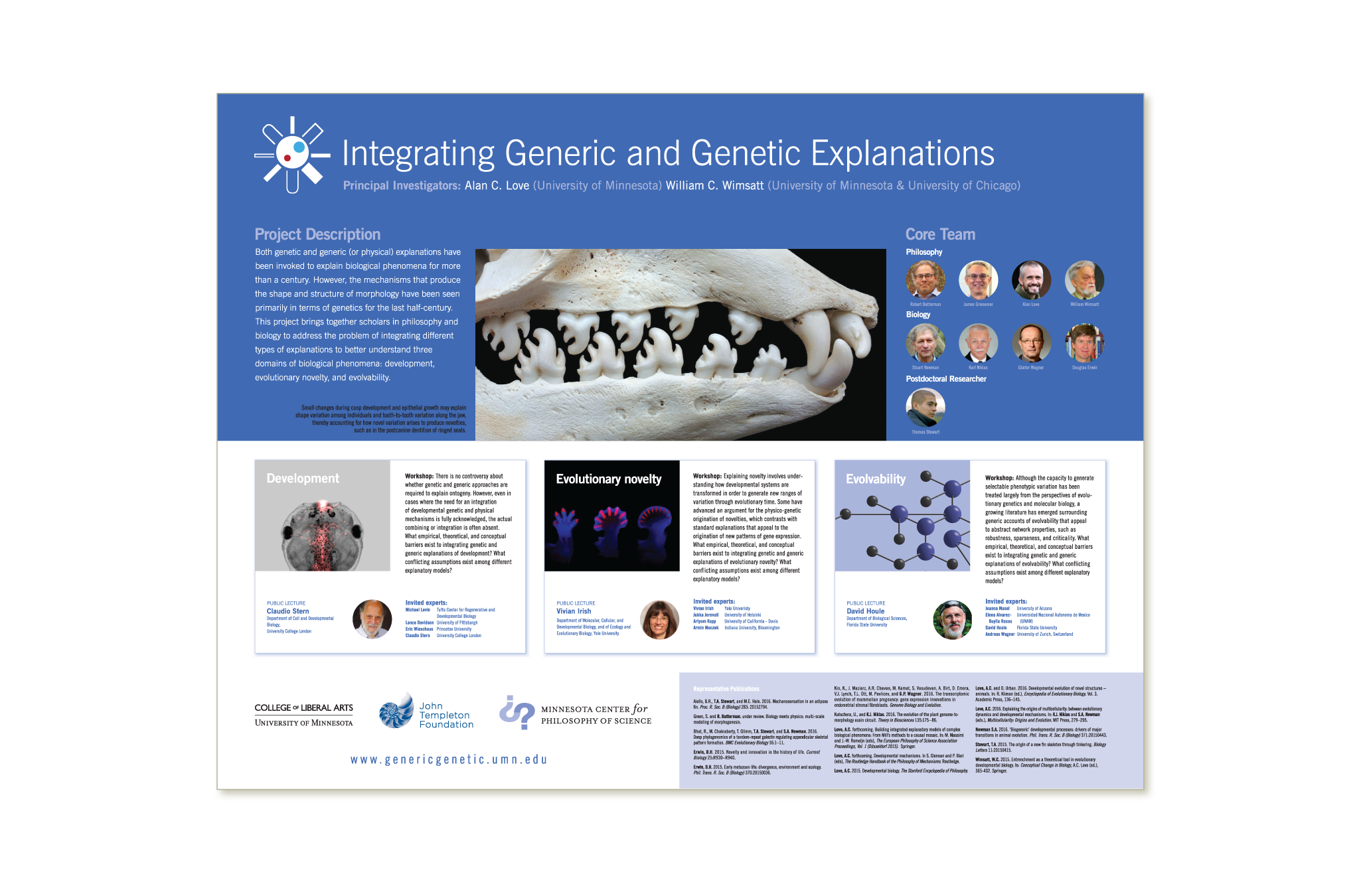 Generic to Genetic project poster