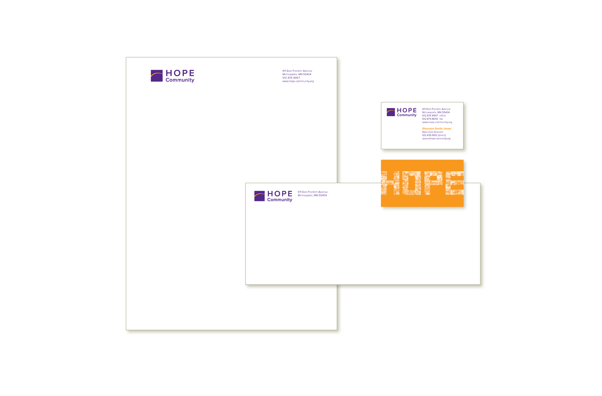 Hope Community business stationery