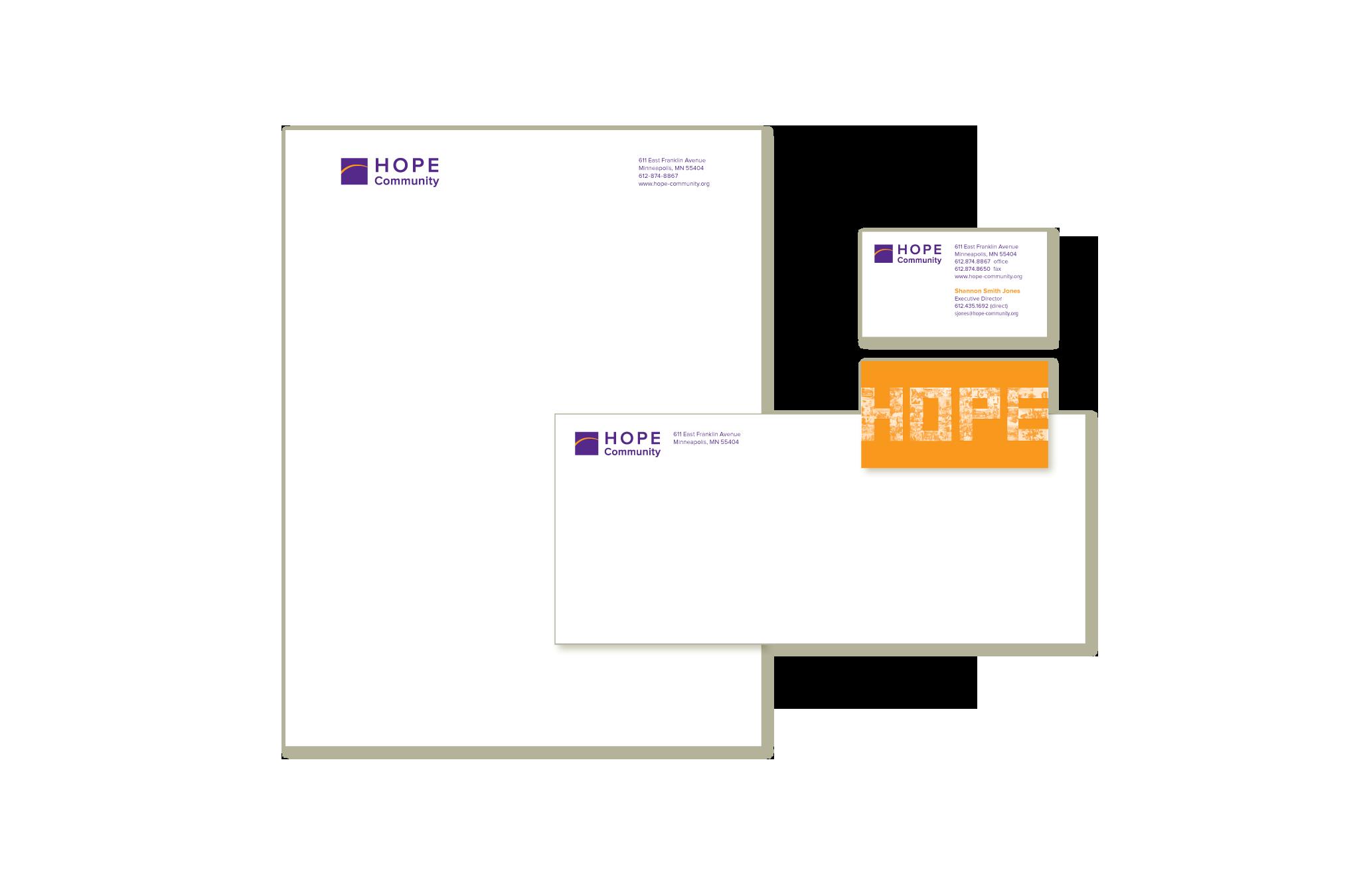 Hope Community business stationery