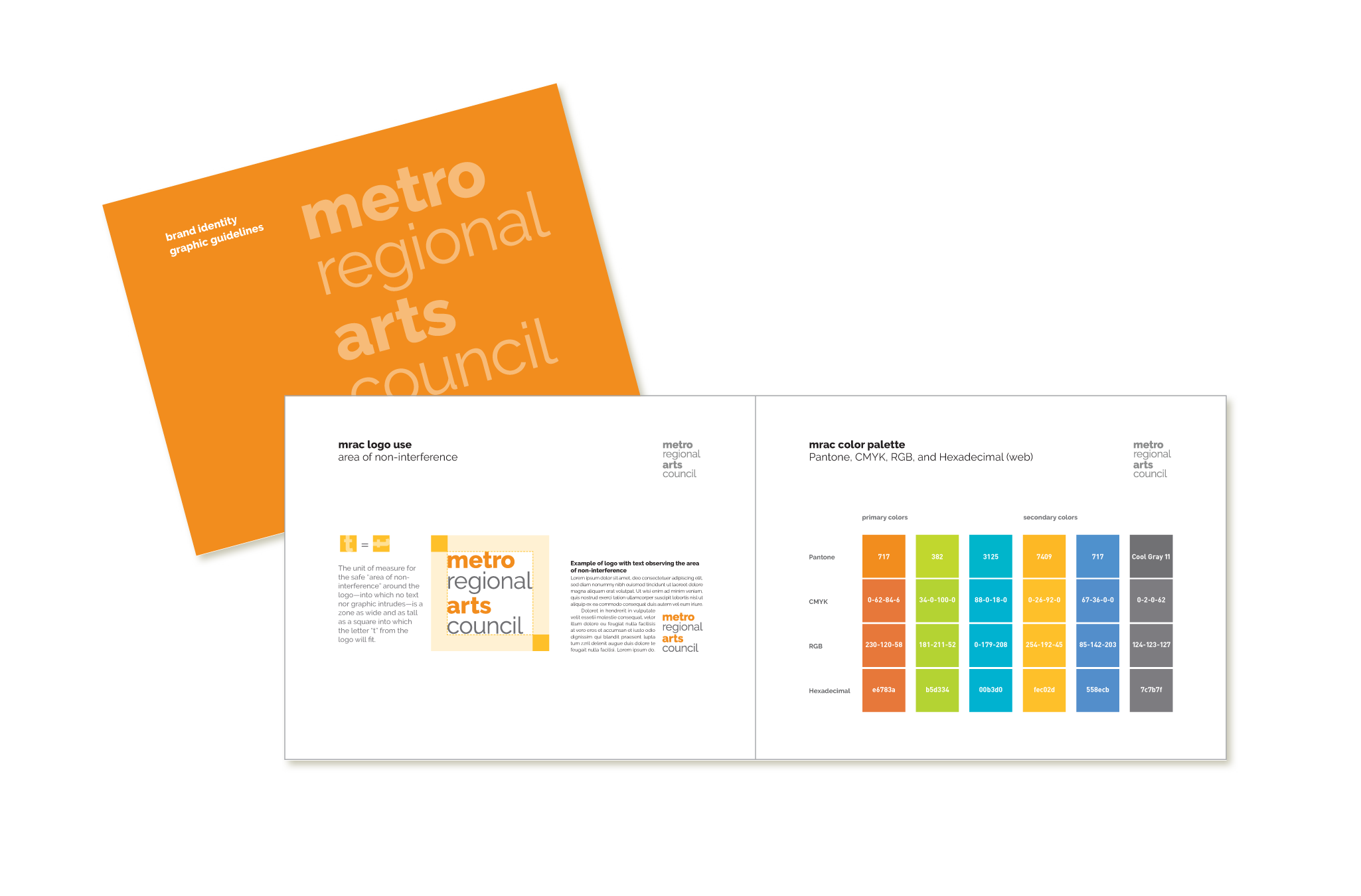 Metropolitan Regional Arts Council graphic guidelines document