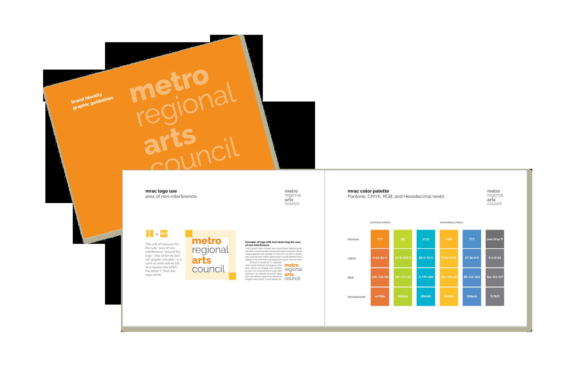 Metropolitan Regional Arts Council graphic guidelines document