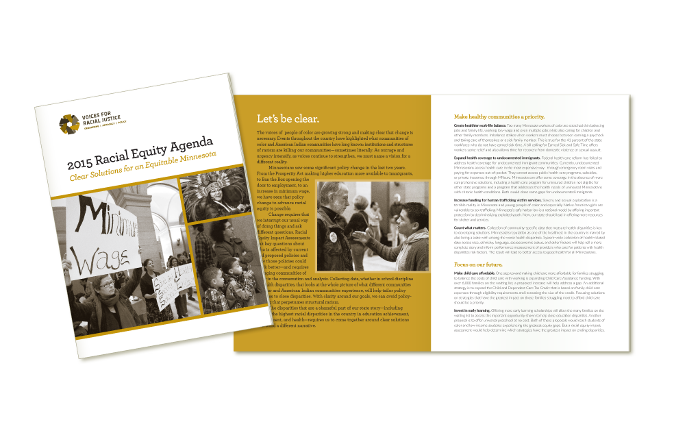 2015 agenda design for Voices for Racial Justice