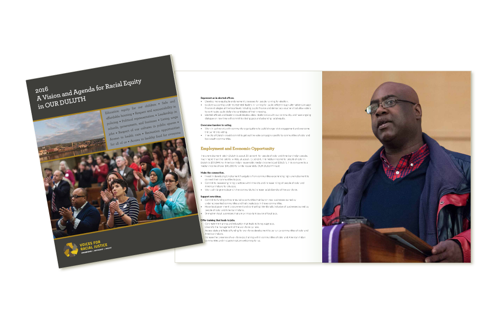2016 Duluth agenda design for Voices for Racial Justice