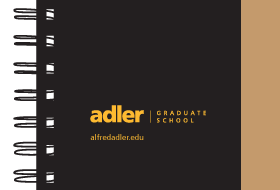 "Booklet with title of ""Adler Graduate School"""