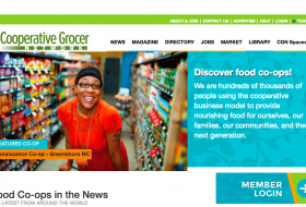 Cooperative Grocer website home page  www.grocer.coop